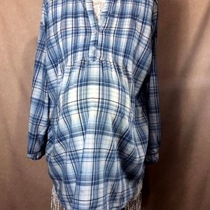 MOTHERHOOD MATERNITY Blouse, Blue and white, SZ XL